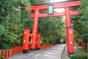 Main gate to Hayatama Shrine