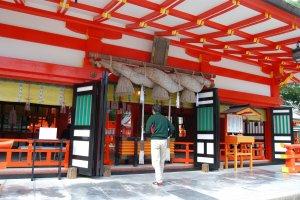 Prayer time at Hayatama Shrine