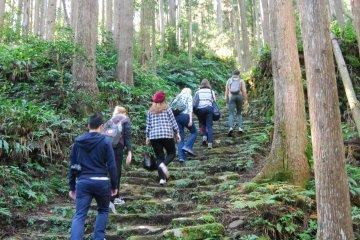 Uphill on the Okumotori-goe route