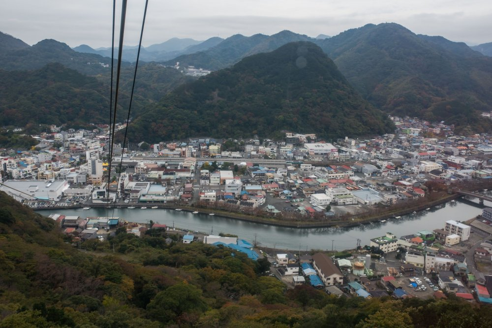 A view of the charming seaside town from the top of the Ropeway.