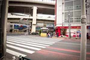 Pintu keluar dari Stasiun Sangenjaya