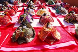 Hand-stitched hina dolls for sale