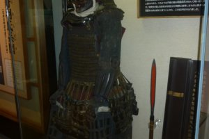 Lord Niwa's armor on display in the castle museum