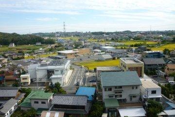 Вид на поле битвы из замка Ивасаки