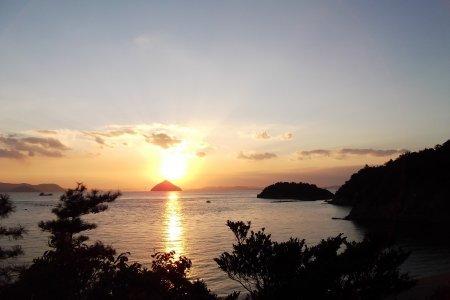 Cảnh biển ở Naoshima