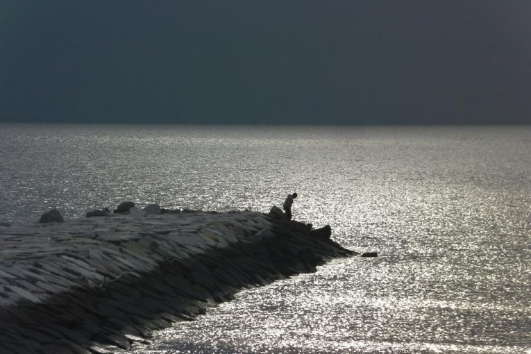 Bãi biển Makuhari vào mùa đông