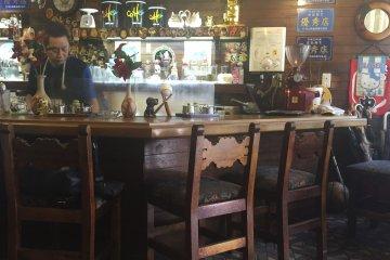 Inside the quaint shop