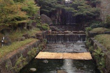 "The ""magical"" Ryumon no Taki waterfall."