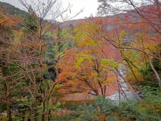 Walking parallel to the river Tsukikawa which runs through the heart of this gorge