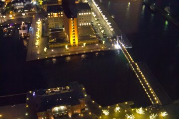 The lights on the harbor area were very beautiful