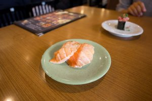 Fatty salmon sushi