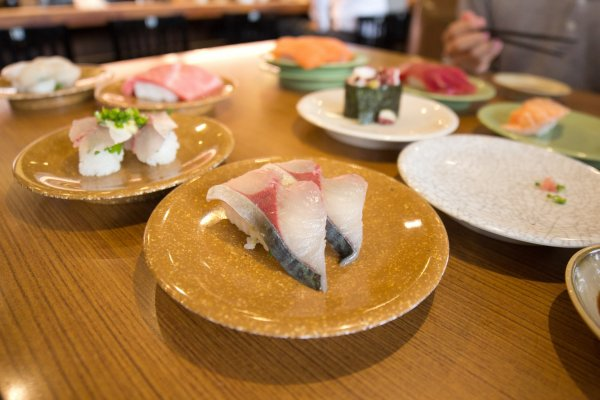 Local fish of Beppu served by Kame-sho