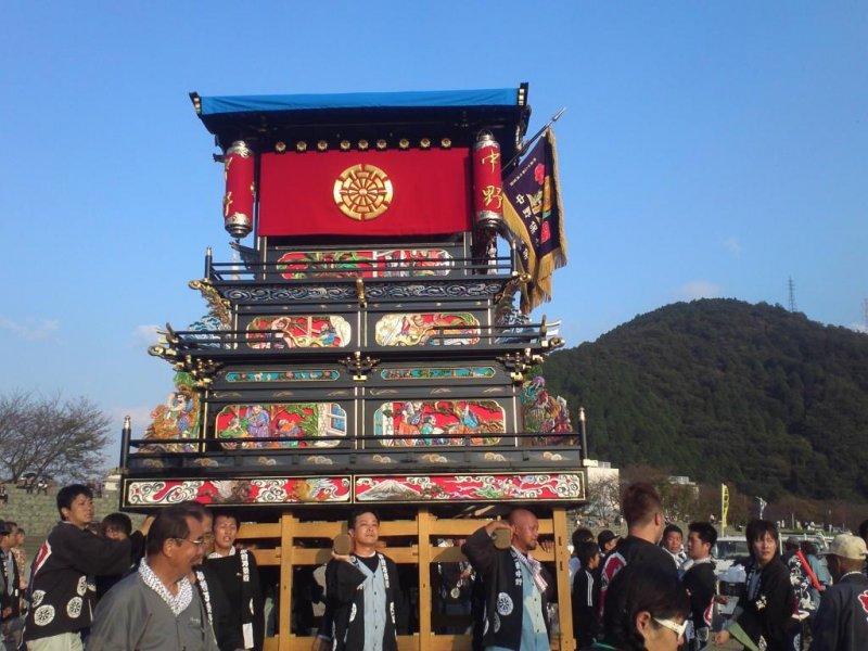 A festival juggernaut at the Saijo Festival