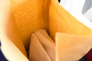 Breads packed into paper bags