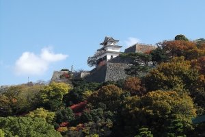 Marugame castle up on its hill