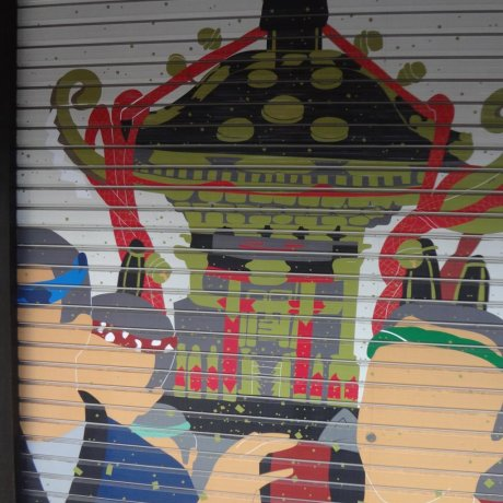 Shutter Art at Senso-ji Temple
