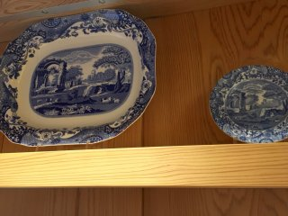 Blue Italian decorative plates