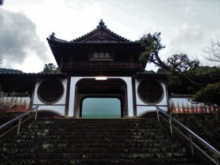 The entrance gate to the main halls of the monastery