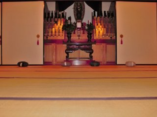 One of the meditation rooms