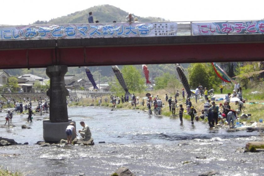 Niimi fishing contest held each year May 5th