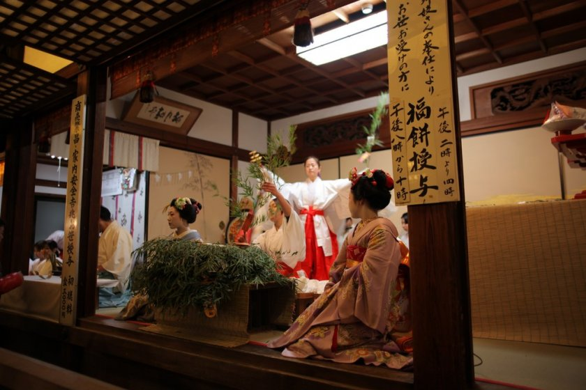 Maiko during the festival