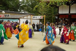 Shimogamo Shrine hosts the first Kemari match of the year