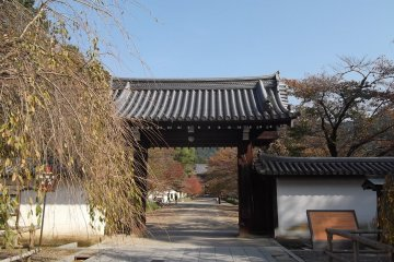 The first gate to the temple complex