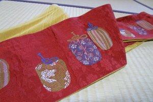 桐生織の正絹帯