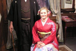 Dress up in Japanese period costumes for a photo session
