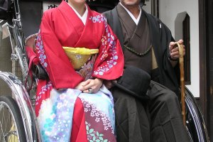 Cruise the Asakusa streets in old-style garb