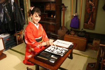 Jidaiya offers culture experiences such as calligraphy