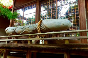 The shrine's biggest and most famous wooden carving