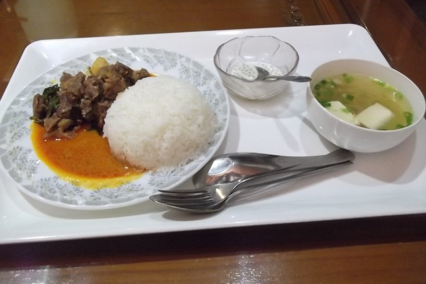 My red curry lunch
