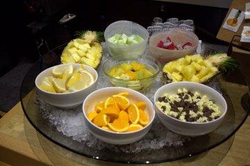 新鲜水果充足