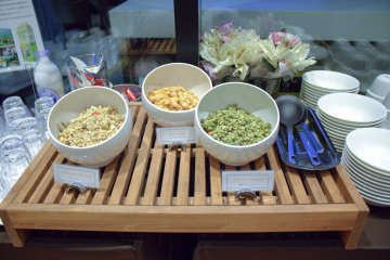 Selection of cereals and granola