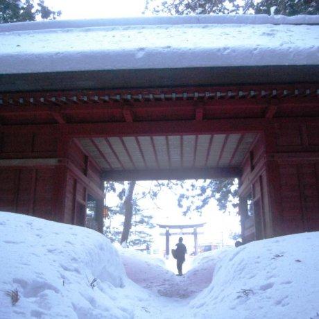 Mount Haguro in Winter
