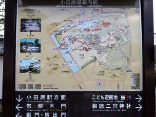 Peta lingkungan kastil
