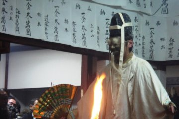 Human or deity-the Noh fans would know exactly what is being shown on stage