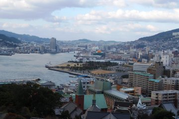 View from Glover Garden over Nagasaki City