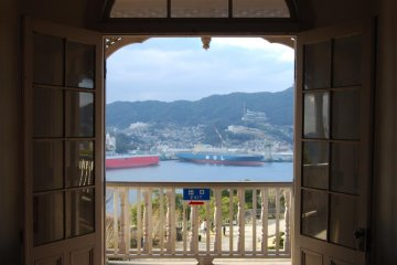 View over Nagasaki habor from one of the houses