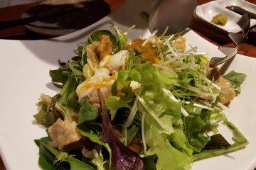 Chicken skin salad