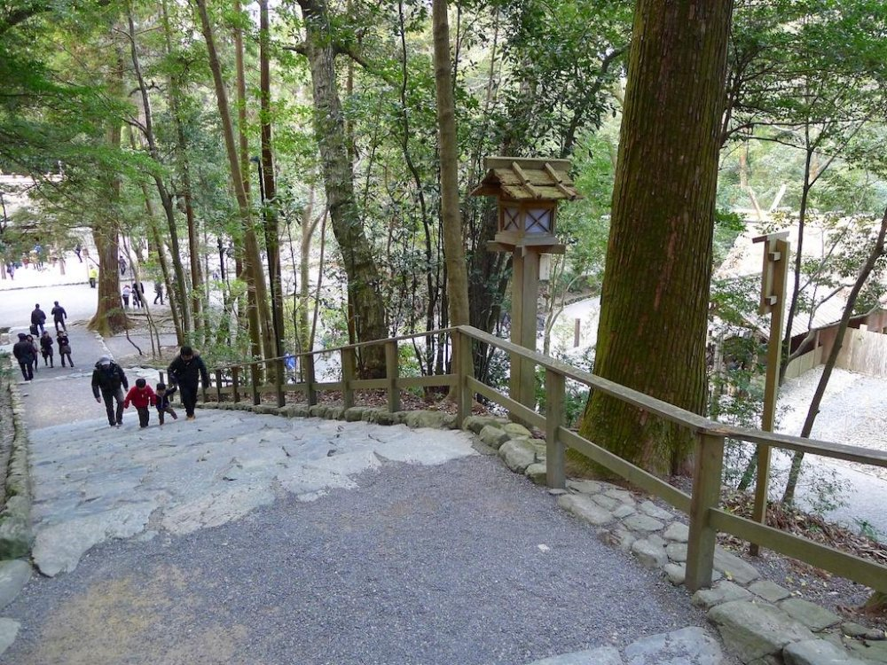 You'll walk up and down many steps to visit all the shrines.