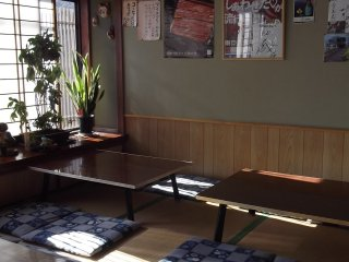 The tatami dining area
