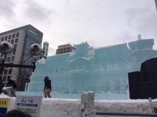 Ice sculptures were also included.