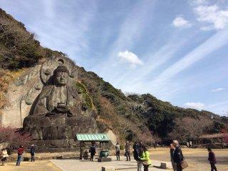 """Daibutsu"" or big buddha a Nihon-ji on Sawtooth Mountain."