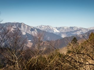 When traversing from Mt. Mitake to Mt. Hinode it's possible to see some of the many mountains that make up the picturesque Okutama-kai National Park
