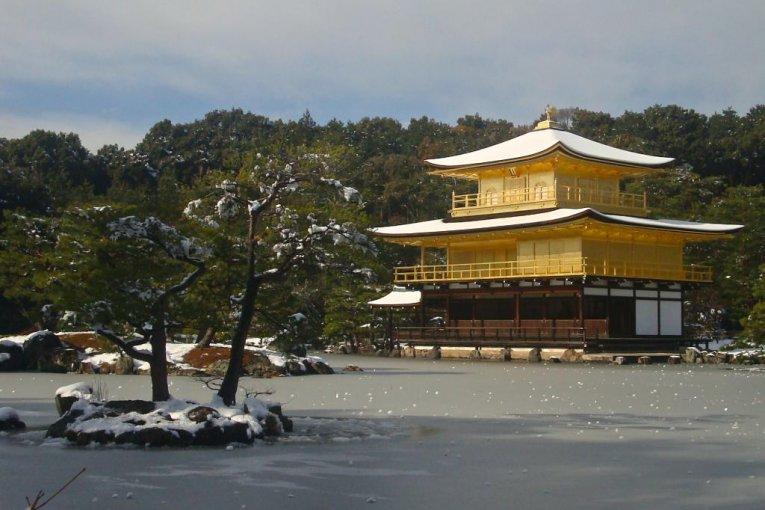 L'Etang du Kinkaku-ji Gelé en Hiver