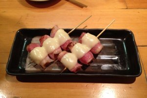 Speciality: pork with Japanese sour plum, bacon and cheese