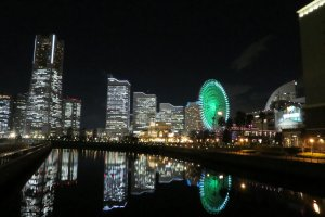 Yokohama night view just 15 minutes from hotel
