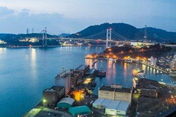 View of the Kanmon Strait from Mojiko Retro Highmart
